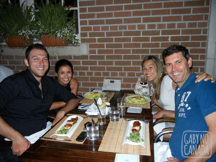 Flavia, Felipe, eu e Ju