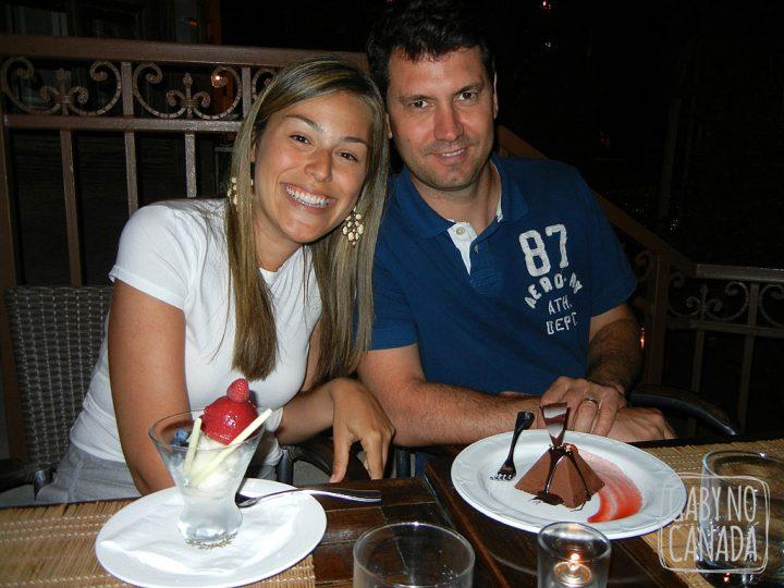 Eu e Ju com nossas sobremesas!
