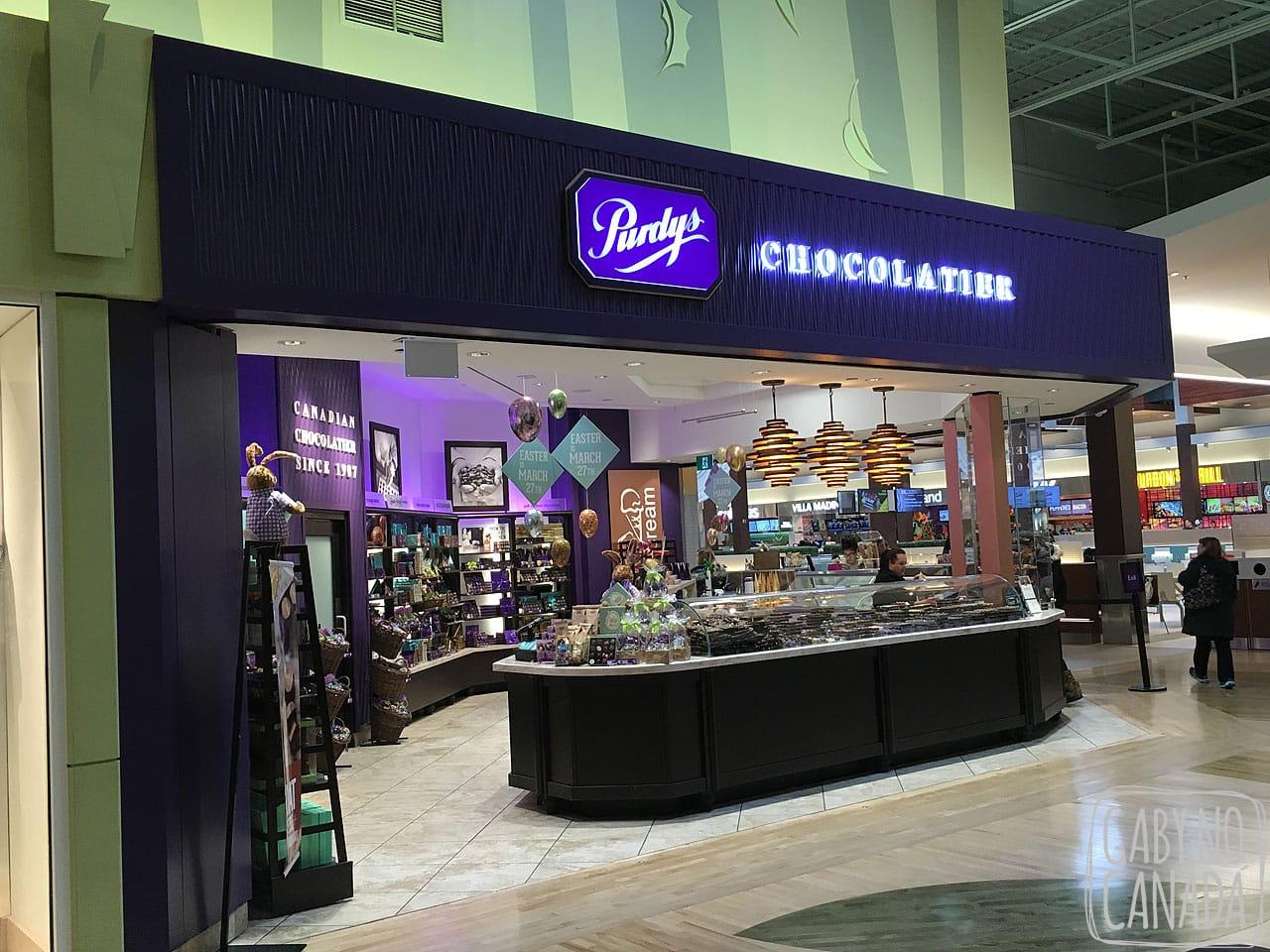 c3a1b34eb Esta loja de chocolates canadenses é bem popular por aqui e pouco conhecida  entre os brasileiros. Os chocolates da Purdy s são deliciosos e uma ótima  opção ...